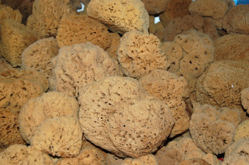 Natural sponges from the island of Kalymnos