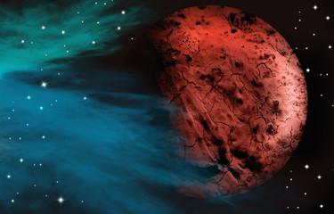 Alien red planet