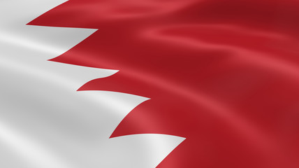Bahraini flag in the wind