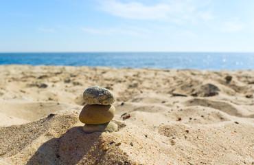 Stones on the beach.