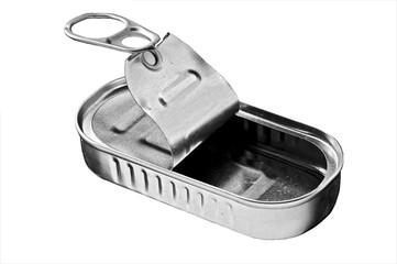 open empty tin