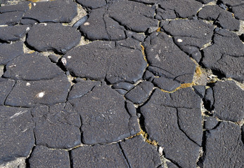 Old cracked weathered tar background