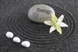 zen mit sand und stein