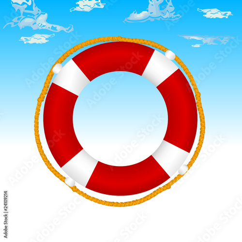 live saver vector color illustration
