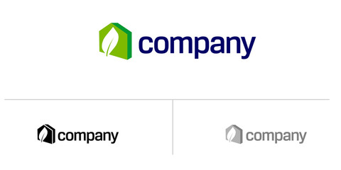 Eco Home logo for  real estate company.