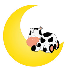vaca durmiendo encima de la luna
