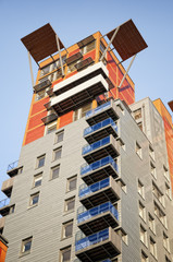 New, stylis apartment building.