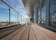 Leinwanddruck Bild - Modern Apartment Balcony with Wooden Decking