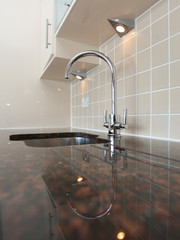 Modern Kitchen Sink with Granite Worktop