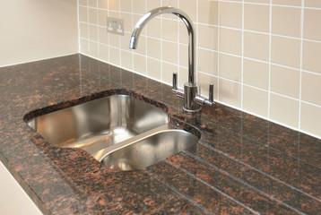 Kitchen Sink with Granite Worktop