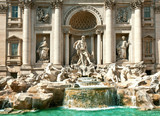 Trevi Fountain - famous landmark in Rome (Italy) poster