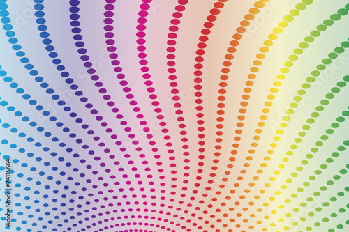 Abstract halftone spectrum background