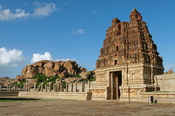 Famous Vittala temple in Hampi, Karnataka, South India
