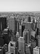New York City panorama in black & white