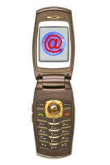 Globe on screen of mobile phone