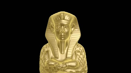 golden mummy of egypt isolated with alpha hd 1920x1080p