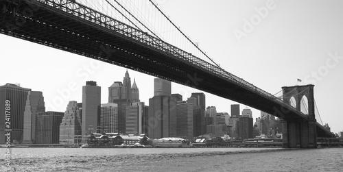 most-brooklinski-w-nowym-jorku-czarno-bialy