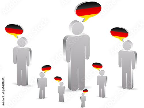 group of german people