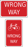 wrong way signs poster