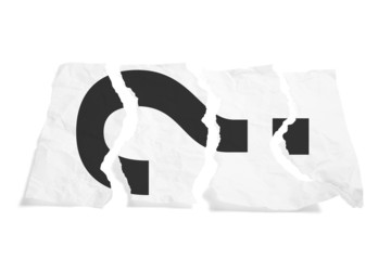 Torn Paper with Question Mark