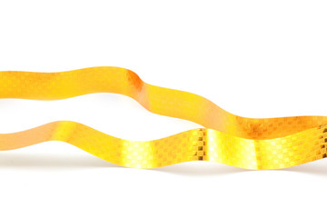 bright yellow holiday ribbon