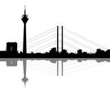 Fototapety Düsseldorf Silhuette