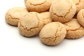 Traditional Italian Biscuits on a white background