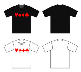 Outline t-shirt vector illustration isolated on white.