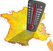 Carte de France - Chaleur canicule (#8)