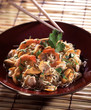 chinese noodles with seafood salad