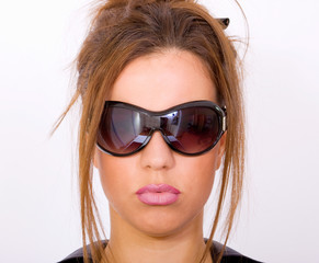 Close up girl with sunglasses
