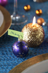 christmas decoration with name-tag