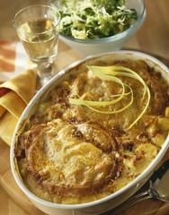 potato and reblochon gratin