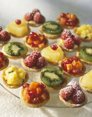 selection of fruit tartlets