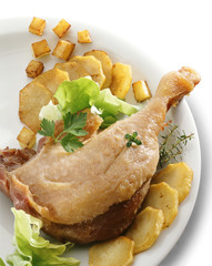 confit leg of duck with sauteed potatoes