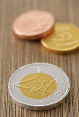 chocolate euro coins