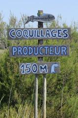 shellfish-producing sign