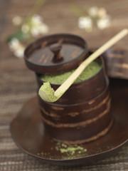 powdered matcha tea