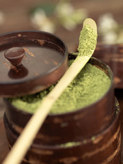 powdered matcha tea