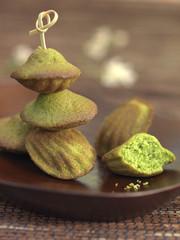 matcha tea madeleines
