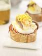 serrano ham,anchovy,shrimp and egg on a bite-size slice of bread