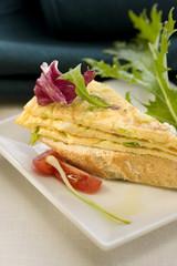 spring garlic omelette