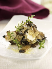 eggplants with garlic and vinegar