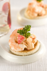 shrimp and pineapple canapé