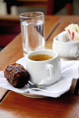 expresso and cannelé
