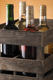 crate of wine bottles