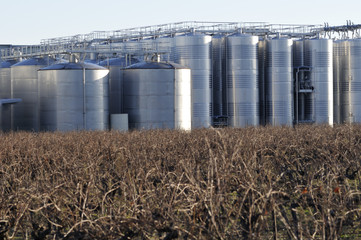 aluminium vats outdoors