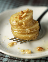 touquet ratte potatoes with crushed peanuts and fleur de sel sea salt