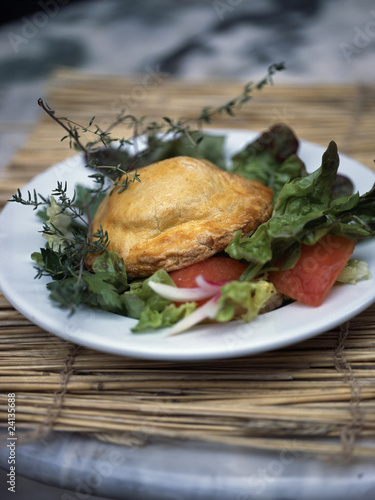 goat's cheese flaky pastry pie