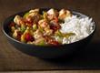 chop-suey chicken with rice